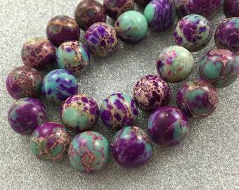 10 mm  semi precious natural  gemstones,aqua terra jasper beads for  honesty bracelet