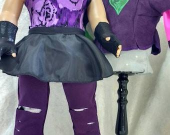 Descendants Mal Costume for American Girl Doll