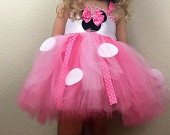 Minnie Mouse inspired tutu dress 6M-4T