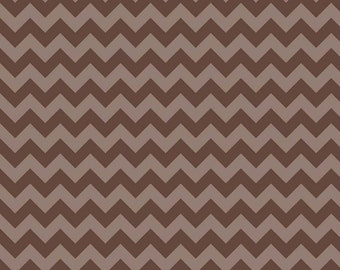 Brown Tone on Tone Medium Chevron Fabric by Riley Blake. 100% cotton. Medium Zig Zag Chevron. C380-91