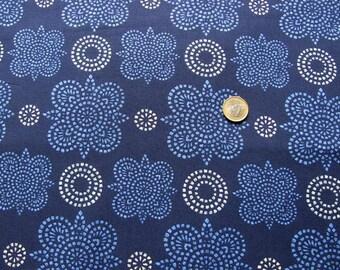 Ty Pennington Fall Impressions Taj navy Stoff marine blau  0,5 m pure Cotton