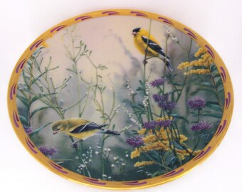 Lenox Collectible Plate Golden Splendor Birds by Catherine McClung