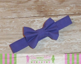 Royal Purple Bow Tie Sizes Infant, Child, Youth, Adult