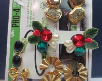 8 Pairs Of Pierced Christmas Earrings