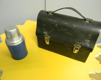 Classic 1950's Lunch Box with Thermos Bottle