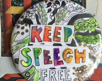 Keep Speech Free Pin