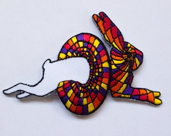 """WHITE RABBIT PATCH!!! """"Oneway to Wonderland"""" Alice Inspired Collectible!"""
