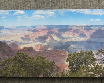 Canvas panorama of Grand Canyon
