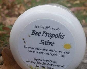 ORGANIC BEE PROPOLIS Cream Salve, Organic Beeswax Salve, Bee Propolis Salve, Organic Bee Propolis Cream, Handmade Propolis Salve