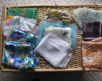Vintage Lot Of Womens Fashion Scarves/ 10 Neck/Head Scarves/ Hentey White  / Robinson Golluber Scarf/  Gifts
