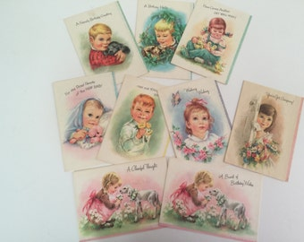 Vintage Parchment All-Occasion Greeting Cards by Coronation USA -  Set of 9