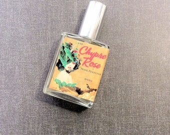 Chypre Rose Hair Perfume - Woodsy Floral - Hair Mist, Hair Milk or Hair Gloss Spray - Silk Protein, Horsetail Extract & Vitamin B - 2 oz