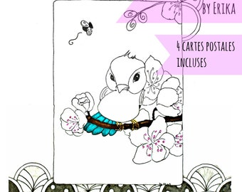 'The animals' coloring book for adults by Erika