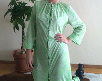 70s Light Green Maxi Dress