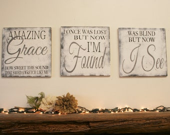 Amazing Grace Wall Art amazing grace sign | etsy