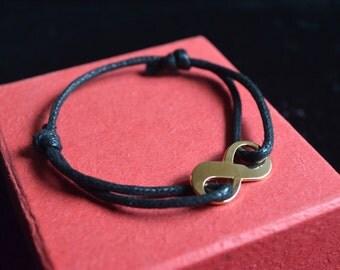 Bracelet gold plated infinity symbol