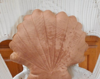 Shell  pillow, throw  pillow, nautical beach decor,coastal decor, beach pillows, bed pillows, decorative pillows, cocoa shell pillow