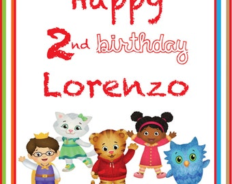 Birthday Sign Daniel Tiger