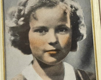 Shirley Temple Print, Framed, Tinted, Warner Brothers Picture