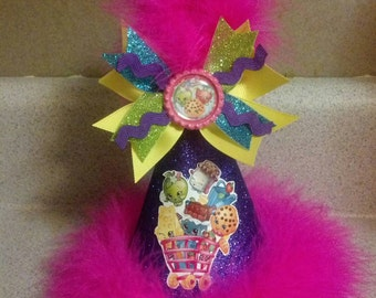 Shopkins  Party hat with removable hair bow party supplies