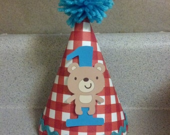 Teddy bear picnic party hat party supplies