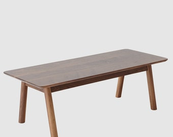 Solid walnut wood coffee table // mid century inspired // modern contemporary design - Tyler by bff