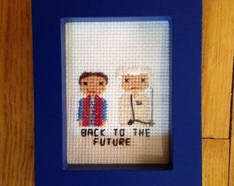 Back to the Future Cross Stitch Portrait