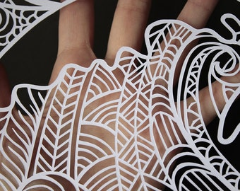 Papercut Tribal Ocean Waves