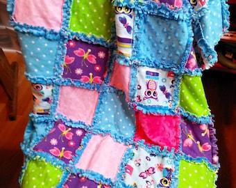 Handmade rag quilt glows in the dark