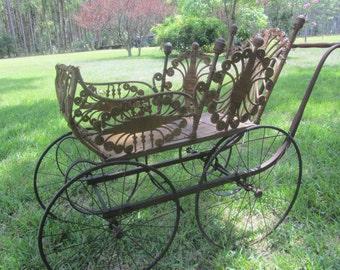 Antique Baby Carriage, Victorian Carriage,antique wicker, pram,civil war, Baby Buggy, Photo Prop,movie prop,shop display, children,