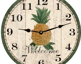 Pineapple Clock- Welcome Clock