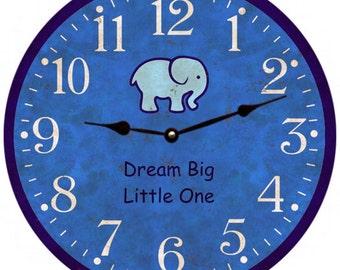 Baby Boy Nursery Clock
