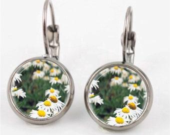 White Daisy Earrings or Ring
