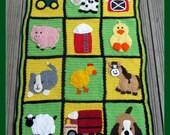 Crochet Farm Animal Applique Set. (Custom listing for Beth Gilmore)