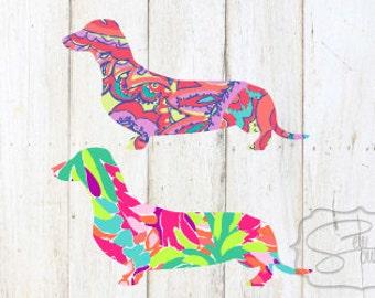 Lilly Inspired Weenie Dog (Dachshund) Decal