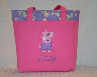 Personalized Peppa Pig Tote Bag