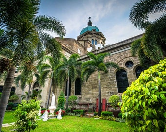 The Manila Cathedral, in Intramuros, Manila, The Philippines. | Photo Print, Stretched Canvas, or Metal Print.