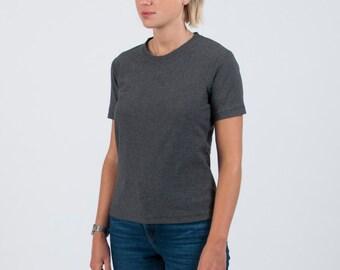 Organic cotton t-shirt - charcoal