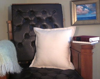 Decorator Throw Pillow Cover Natural Linen