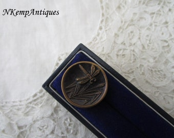 Antique dragonfly button 1910 for the collector French