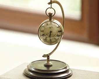 L'oeil Du Temps Clock with Desk Stand - Eye of the Time Clock