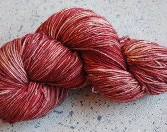 Hand dyed superwash merino nylon sock yarn