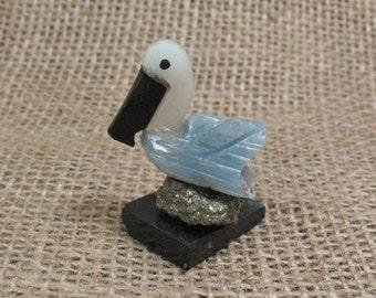 Gemstone Bird Carving - 1.5 inches - Item 62552