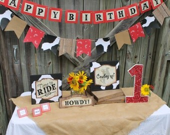 Cowboy themed party decorations