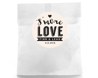 Smore love Wedding Favor Stickers - Personalized Wedding Favor Labels - Wedding Favor Labels - Thank you stickers