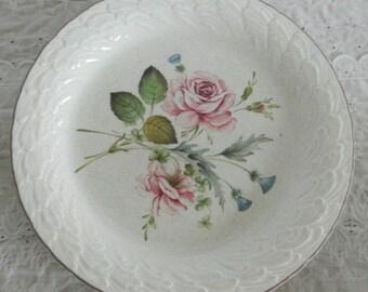 Set of 4 Vintage Mikasa Laurel Morning Rose C3001 Stoneware Dinner Plates