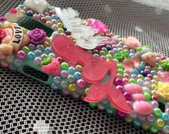 PHONE CASE! Decoden Mermaid Mint Green Samsung Galaxy S5 I9600