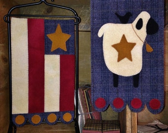 Friends & Freedom Wool Applique Banners
