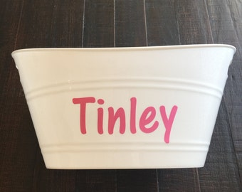 Personalized Basket, Gift Basket, Personalized Gifts, Monogram,Monogrammed Basket, White Basket, Easter Basket, Storage, Gift Baskets