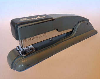 1950s Swingline Model 27 All Metal Retro Stapler. Desk Accessories. Home Office. Office Accessories. Vintage Swingline Stapler.